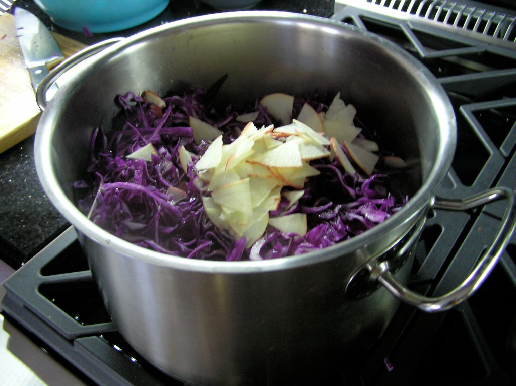 Spaetzle_and_Goulash_cabbage_and_apple_sidedish