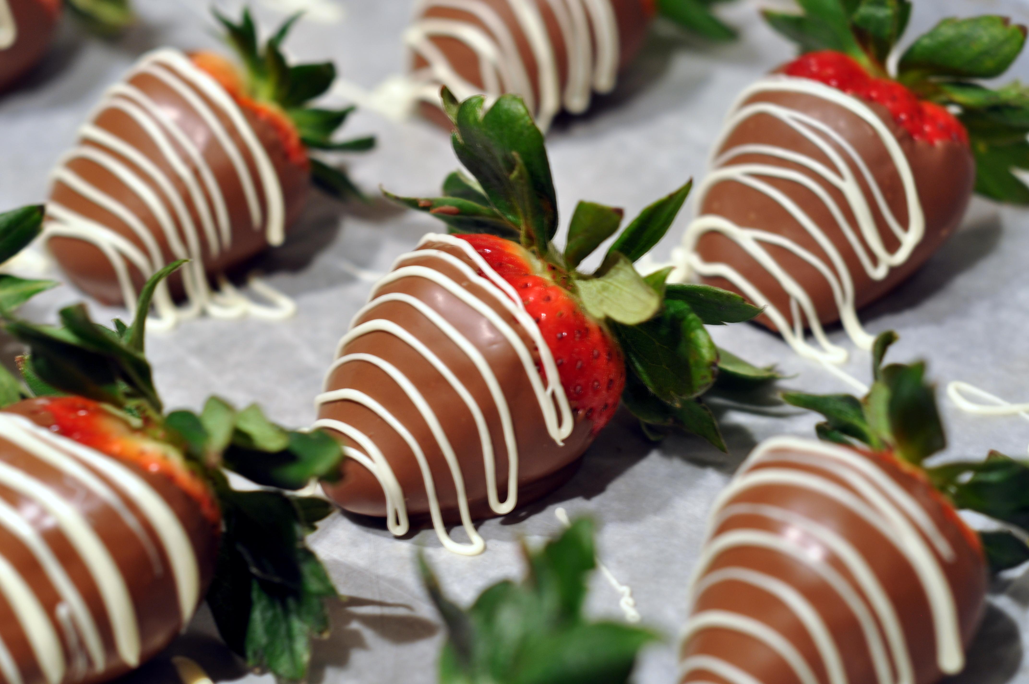 Making White Chocolate Covered Strawberries